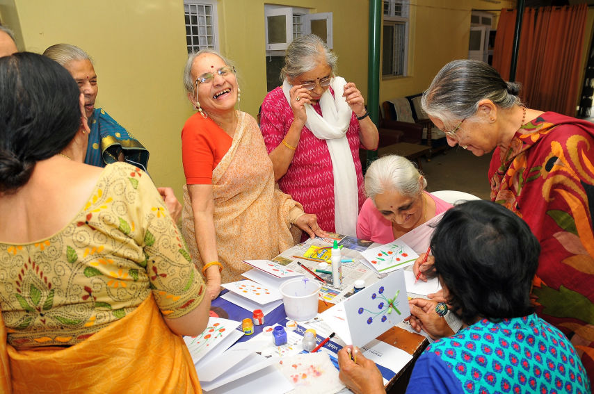 Elders being engaged in their activities